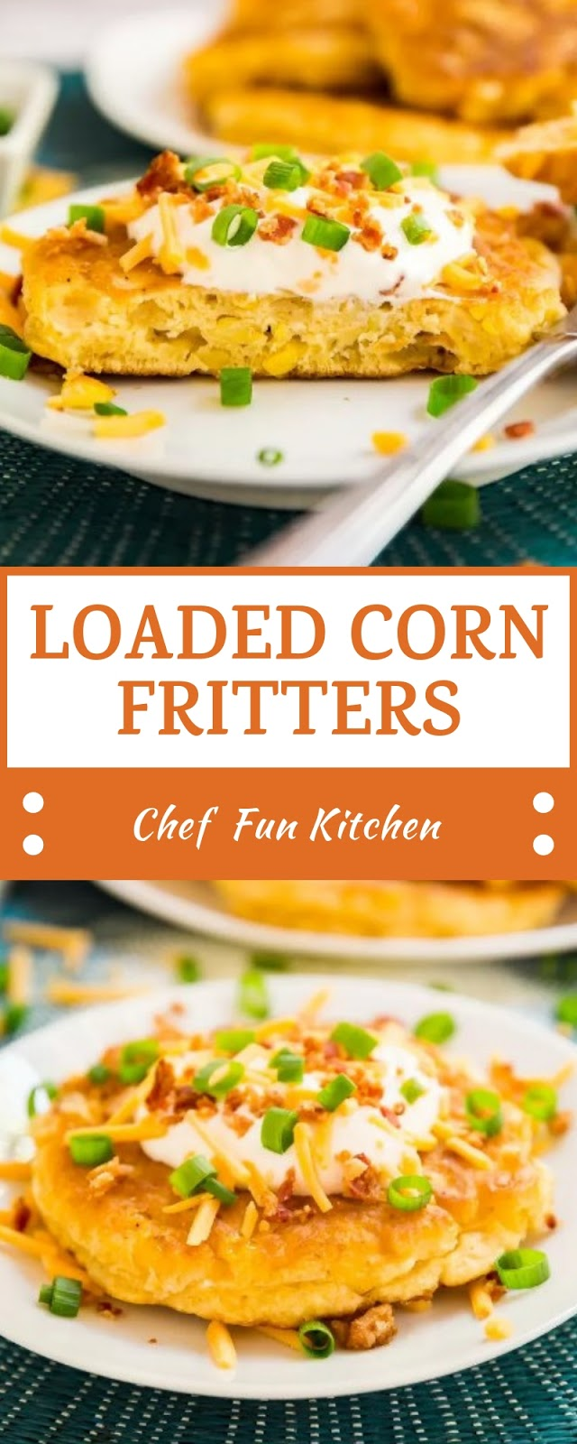 LOADED CORN FRITTERS