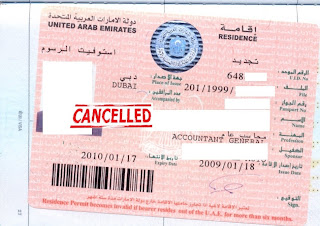 Cancellation of UAE Residence