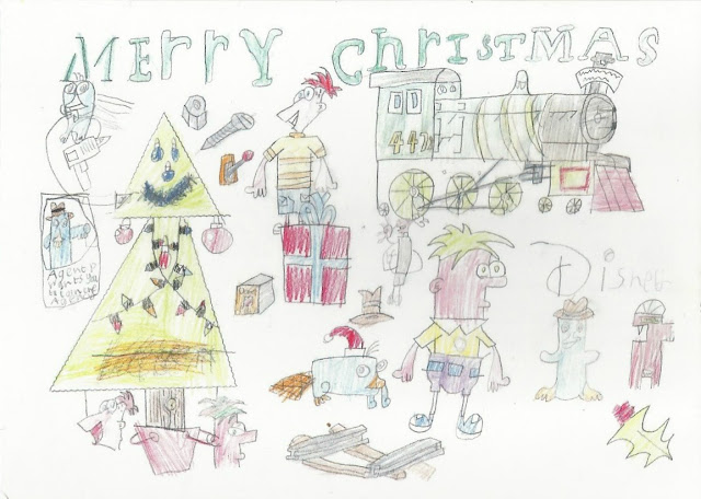 Phineas and Ferb Christmas Drawing