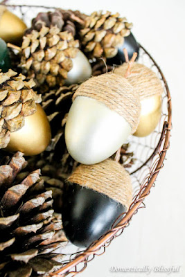 DIY craft tutorial how to upcycle plastic easter eggs into fall acorns