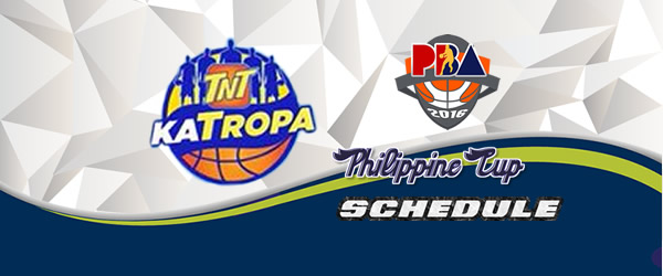 List of Games: TNT Katropa Complete Game Schedules 2016-2017 PBA Philippine Cup