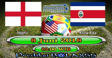 Prediksi Bola855 England vs Costa Rica 8 Juni 2018