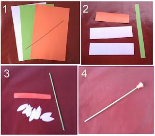 Tutorial bunga krisan dari kertas bufallo