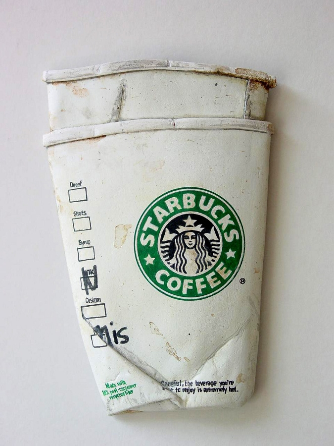 10-Starbucks-Tom-Pfannerstill-Hyper-Realistic-Paintings-Sculptures-From-the-Street-www-designstack-co