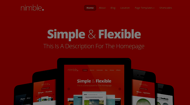 Responsive WordPress Theme No.1-Nimble