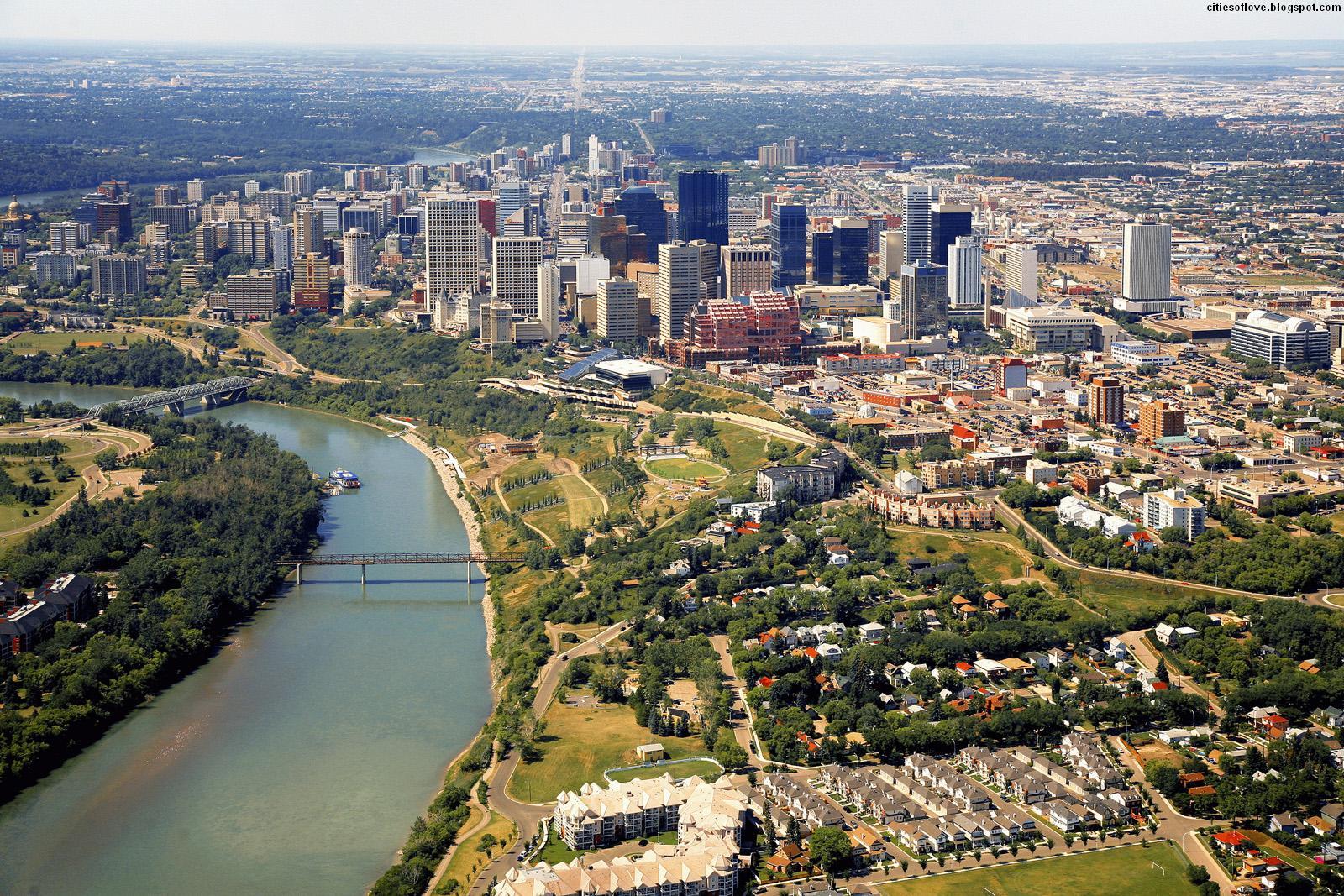 Edmonton Paradise City Of Canadian Province Of Alberta