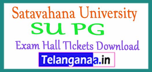 Satavahana University SU PG Exam Hall TIckets Download