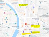 Peta lokasi Titik Jemput Penumpang Ojek Online Gojek-Grab di Stasiun Gubeng Surabaya