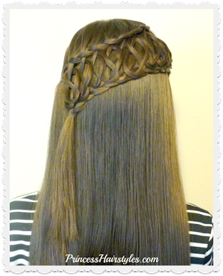 Squiggle knot braid, pretty braided hairstyle