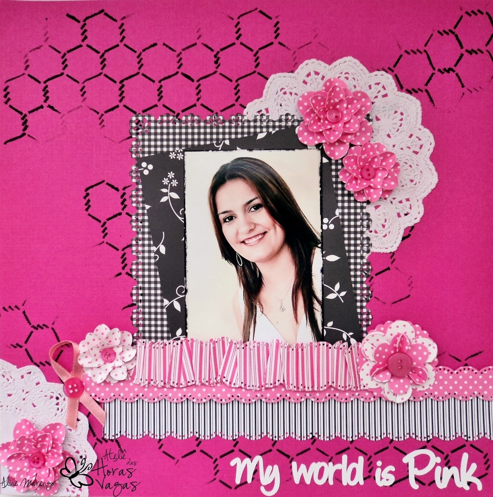 octuber pink outubro rosa my world is pink scrapbook