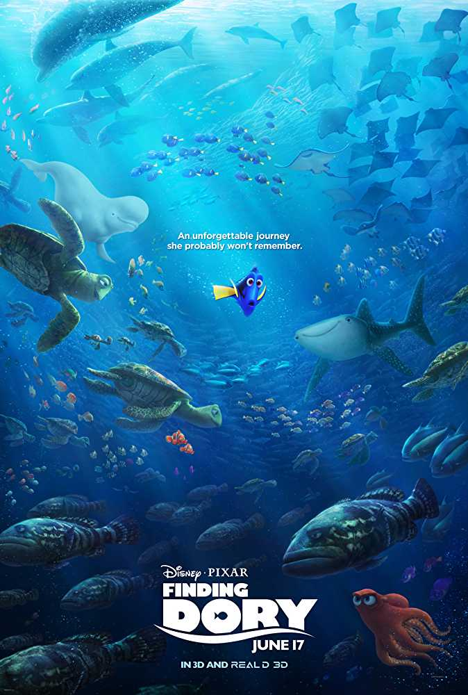 Poster Finding Dory 2016 Full Movie Dual Audio Free Download 300Mb
