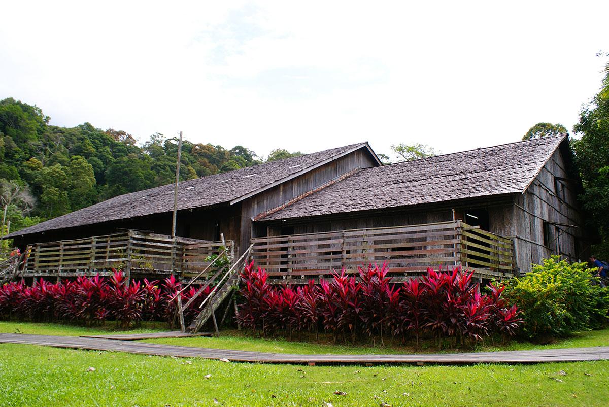 Iban longhouse sarawak culture village curitan aqalili