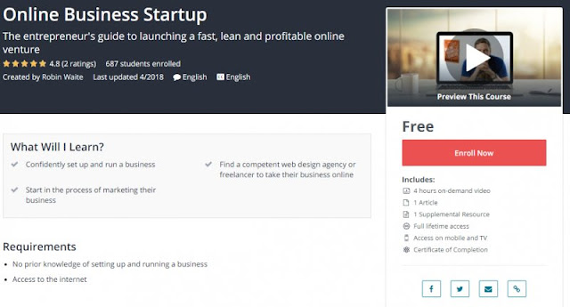 [100% Free] Online Business Startup