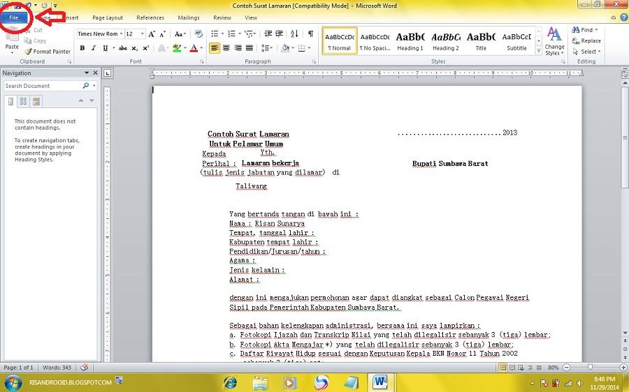 office 2007 apa template - risandrooid cara mengubah word office 2007 dan 2010