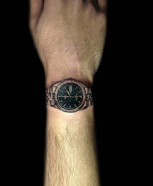 saat erkek bilek dövmeleri watch wrist tattoos for men
