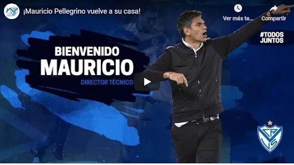 Oficial: Vélez Sarsfield, Mauricio Pellegrino firma como técnico hasta junio de 2021