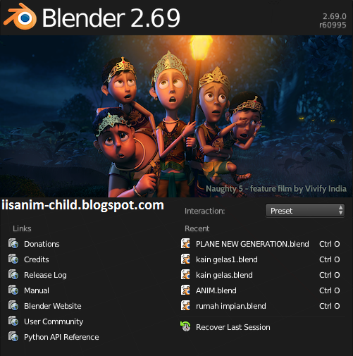 Download Blender 2.69 jalan tanpa di instal