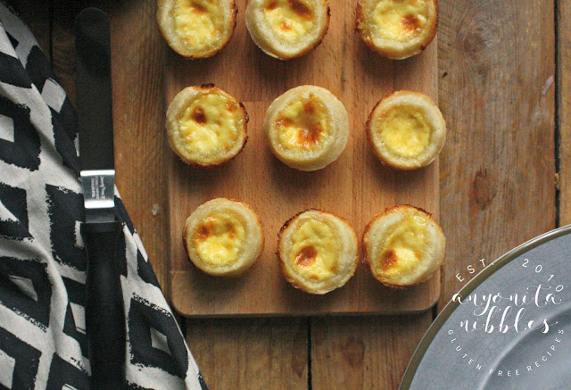 Mini egg custard tarts without gluten