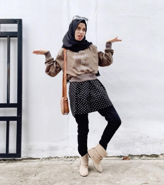40 Model Fashion Hijab Casual Modern Terbaru 2018 Simpel Modis