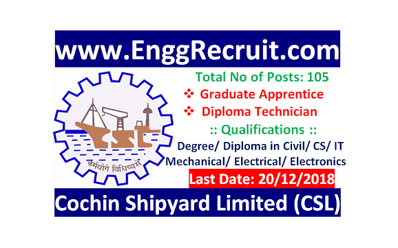 CSL Recruitment 2018