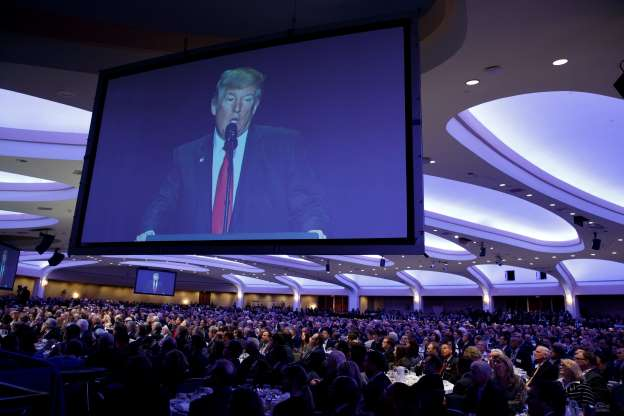Trump opens National Prayer Breakfast with talk about TV ratings