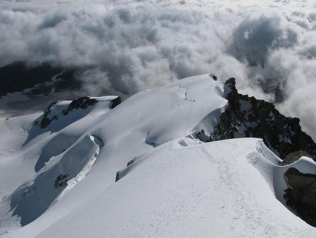 Grat, Eisgrat, Schneegrat, Wolken, Berg, Landschaft