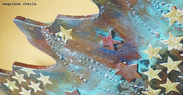 scrapki drewniane w kształcie gwiazdek
