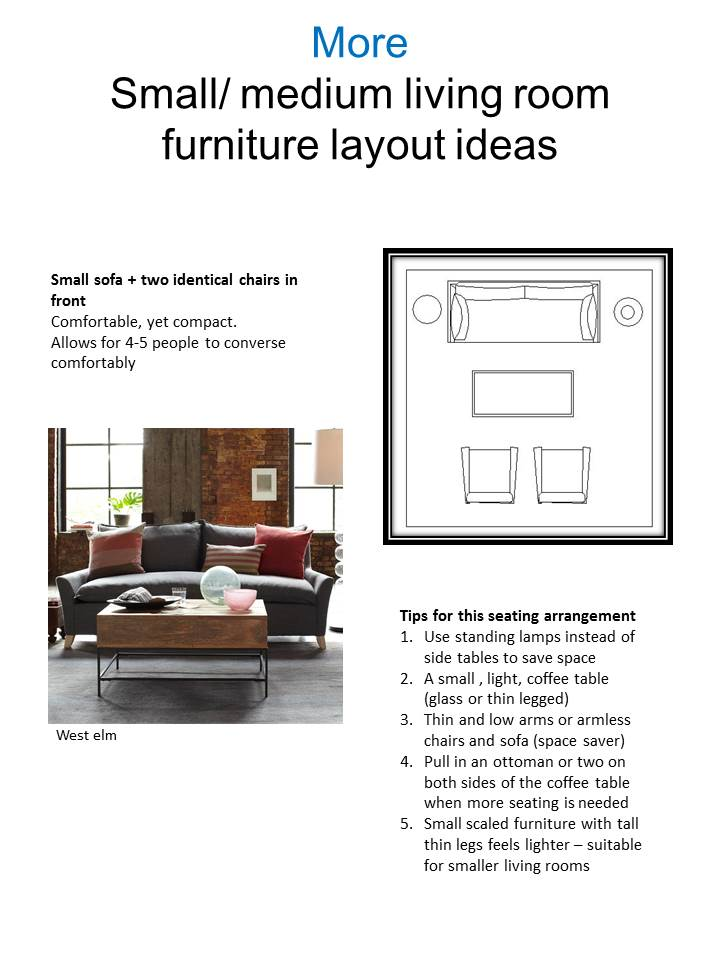 Vered rosen design living room seating arrangements for Small room layout ideas