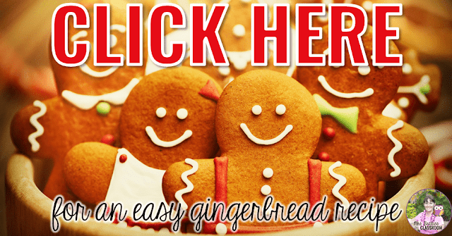 "Photo of gingerbread cookies with text, ""Click here for an easy gingerbread recipe."""