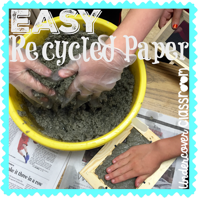 Making recycled paper in the classroom is surprisingly easy and yields great results!