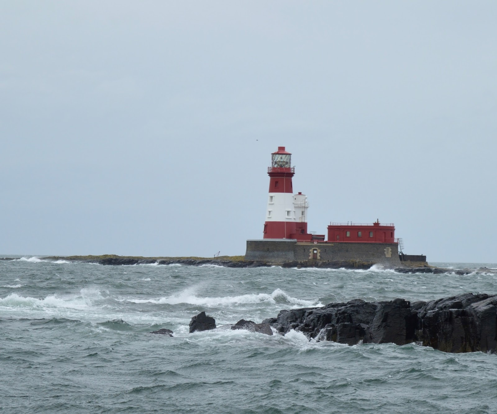 Farne Island Boat Trips with Serenity | A review and what to expect with kids - lighthouse