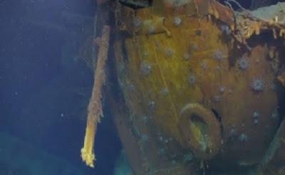 Kapel AS yang Terkena Torpedo Jepang Ditemukan Setelah 75 Tahun