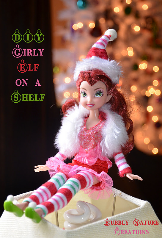 diy girly elf on a shelf sprinkle some fun