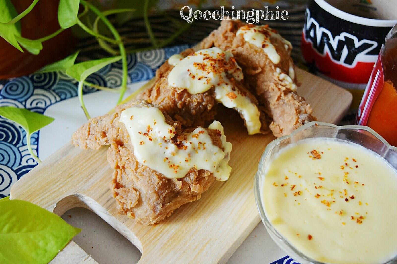 Resep dan Cara Membuat Ayam Kentucky Saus Keju  QoechingPhie