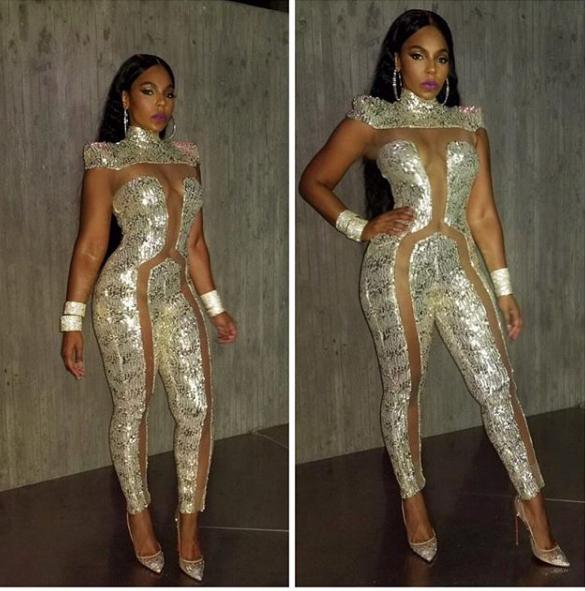 Ashanti rocks revealing jumpsuit but fans aren't feeling it