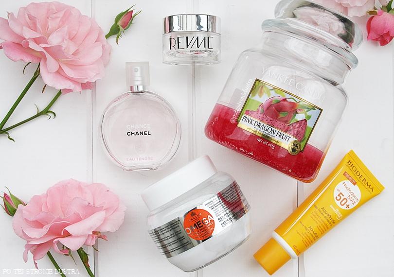 Ulubieńcy miesiąca - filtr Bioderma, maska Kallos, perfumy Chanel