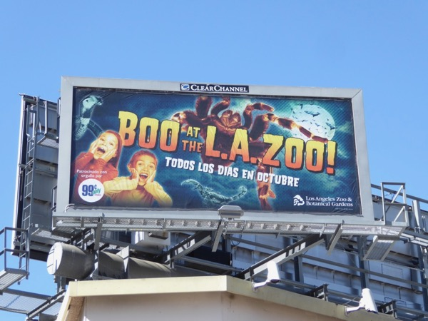 Boo at LA Zoo Halloween 2017 billboard