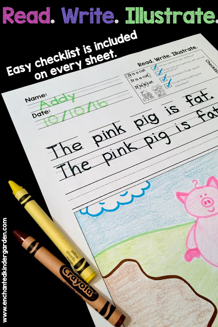 Help your students gain confidence with quick and easy reading fluency. These Read. Write. Illustrate. sheets have a checklist built-in to each activity for easy checking.