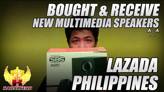 Lazada Philippines, Bought & Received, New Multimedia Speakers