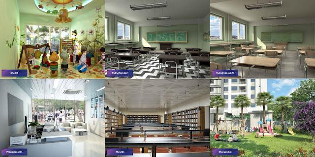 Hệ thống giáo dục liên cấp chất lượng cao ngay trong khu đô thị Goldmark City