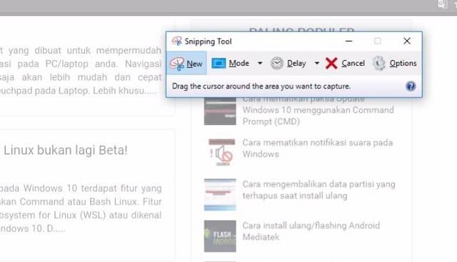 Cara Melakukan Screenshoot (Tangkapan Layar) di Windows 2