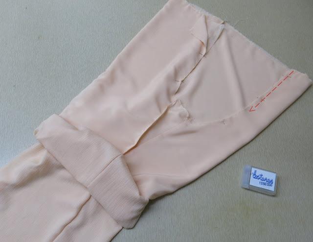 como coser un pantalón doble tela