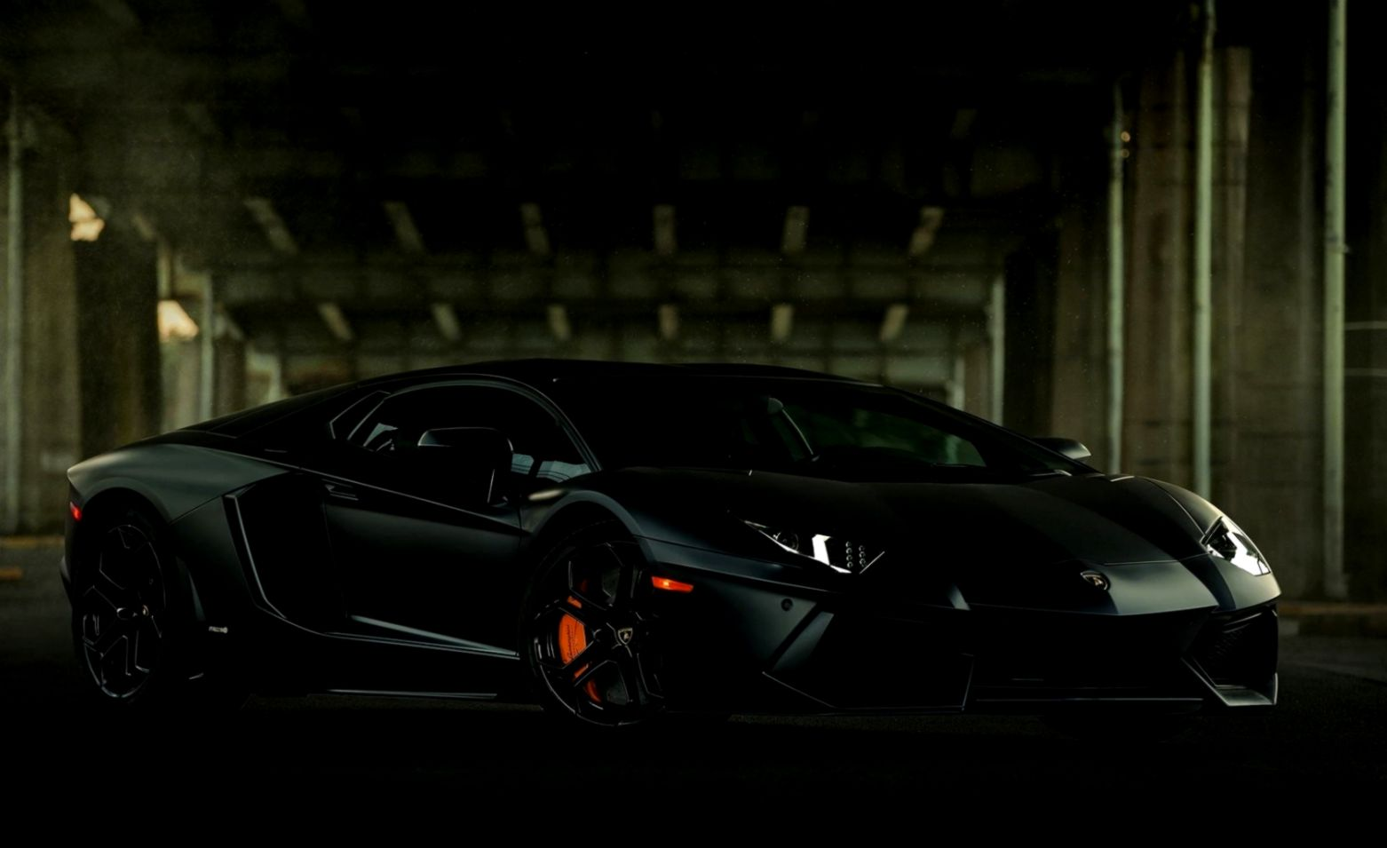 Lamborghini Aventador Black Car Wallpaper