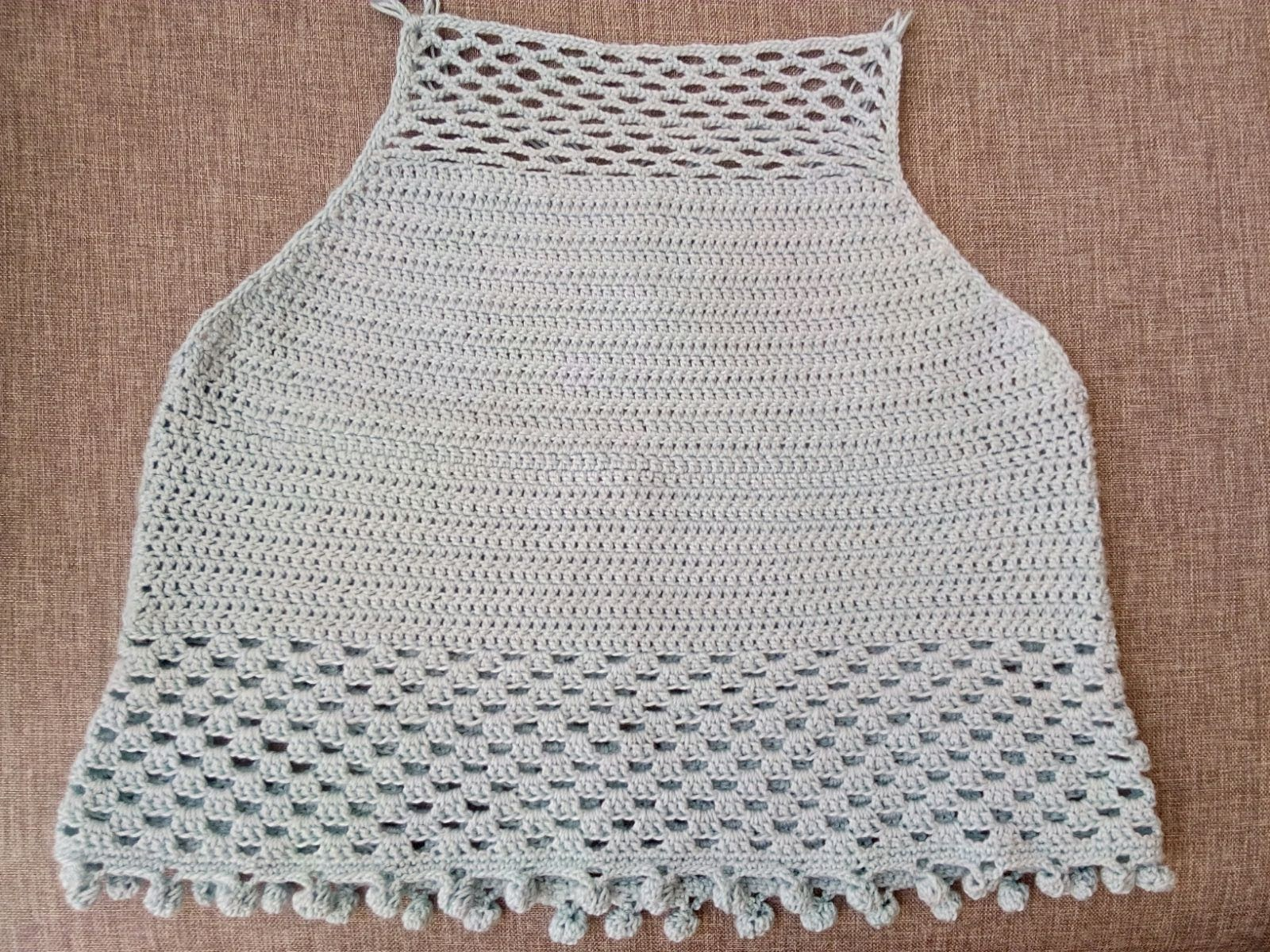 kuchichadas: Top medio largo crochet patrón