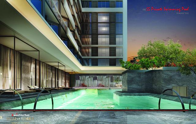 bể bơi xanh tại dựa án La Luna Resort