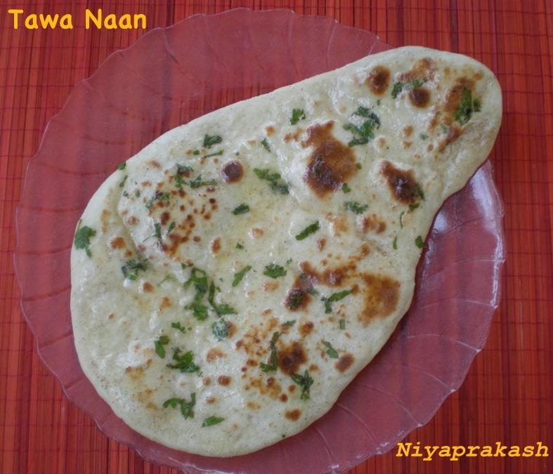 Niya's World: Eggless Tawa Naan