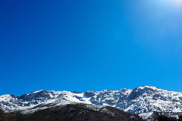 Atlas mountains Morocco blue sky