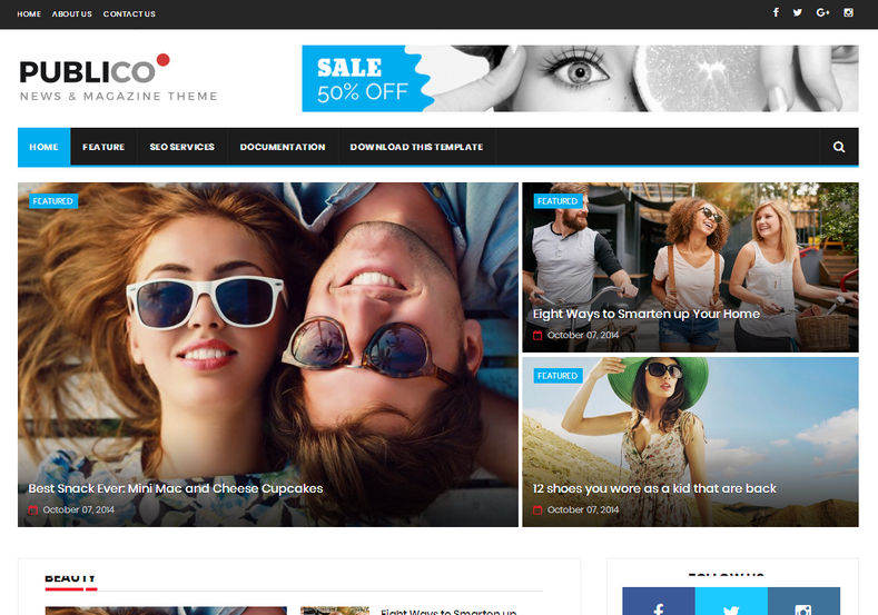 Publico Blogger Template | High Quality Free Blogger Templates