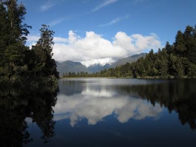 Lago Matheson. Fox Glacier, Nueva Zelanda