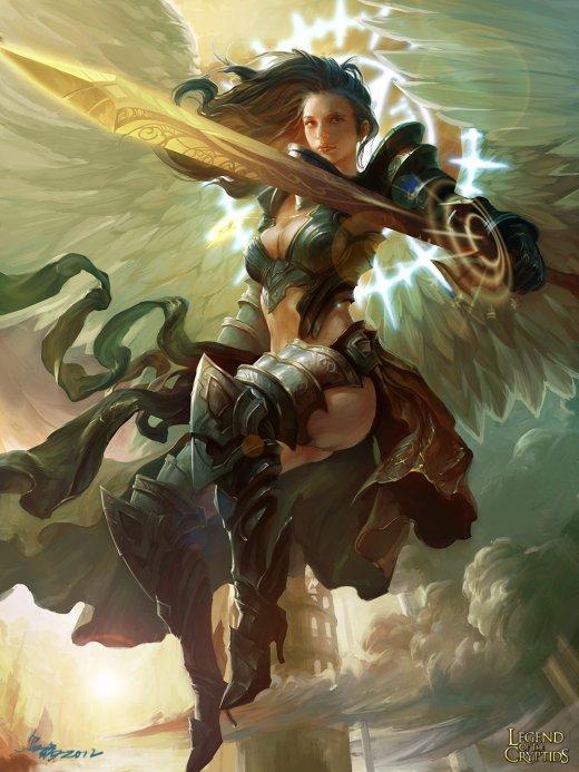 Cheng Xu crow-god deviantart ilustrações fantasia games legend of cryptids anjos e demônios